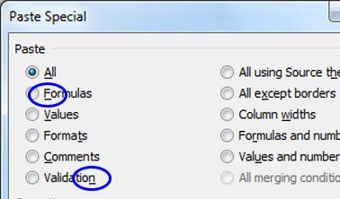 Excel Paste Special Dialog Box